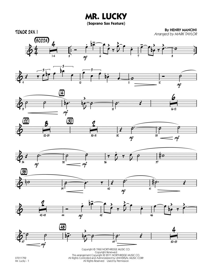 Mr. Lucky (Soprano Sax Feature) - Tenor Sax 1