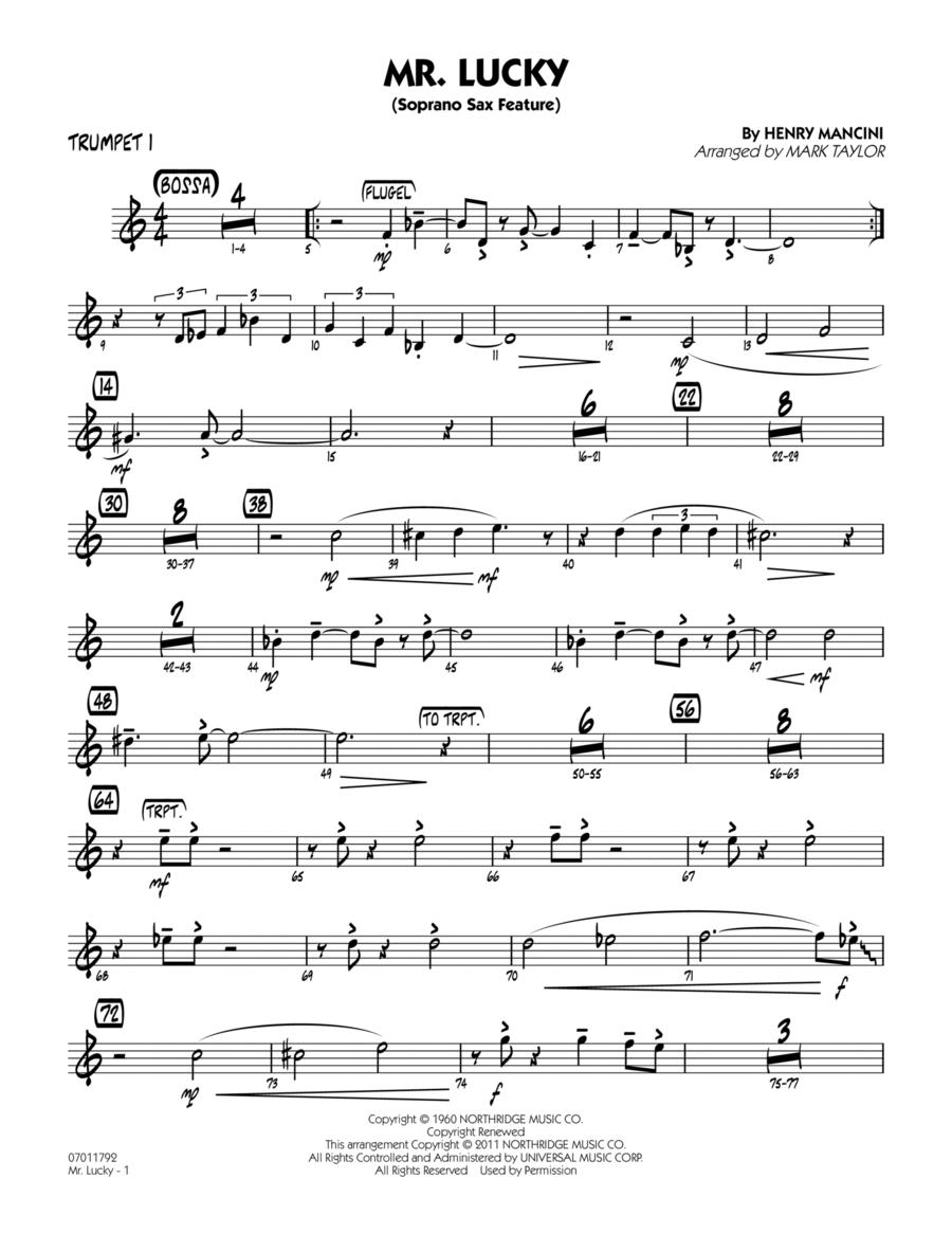 Mr. Lucky (Soprano Sax Feature) - Trumpet 1