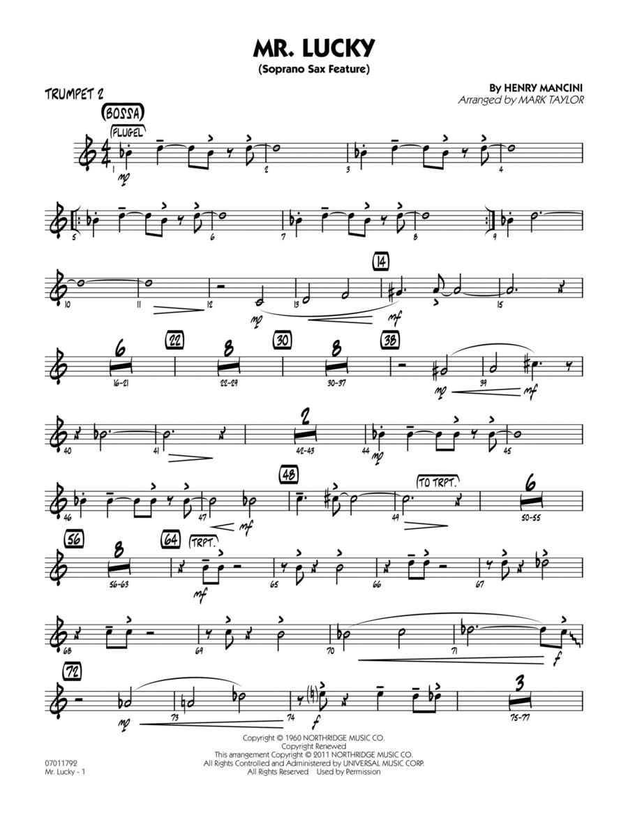 Mr. Lucky (Soprano Sax Feature) - Trumpet 2