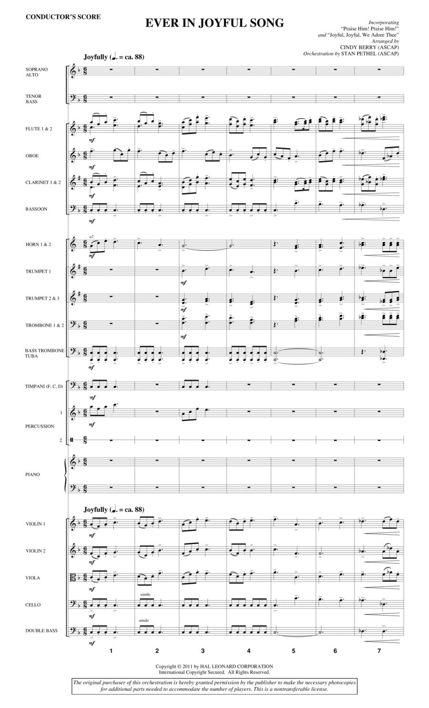 Ever In Joyful Song - Score