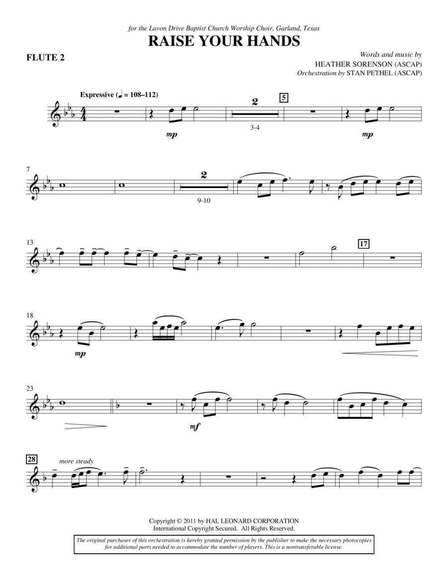 Raise Your Hands - Flute 2