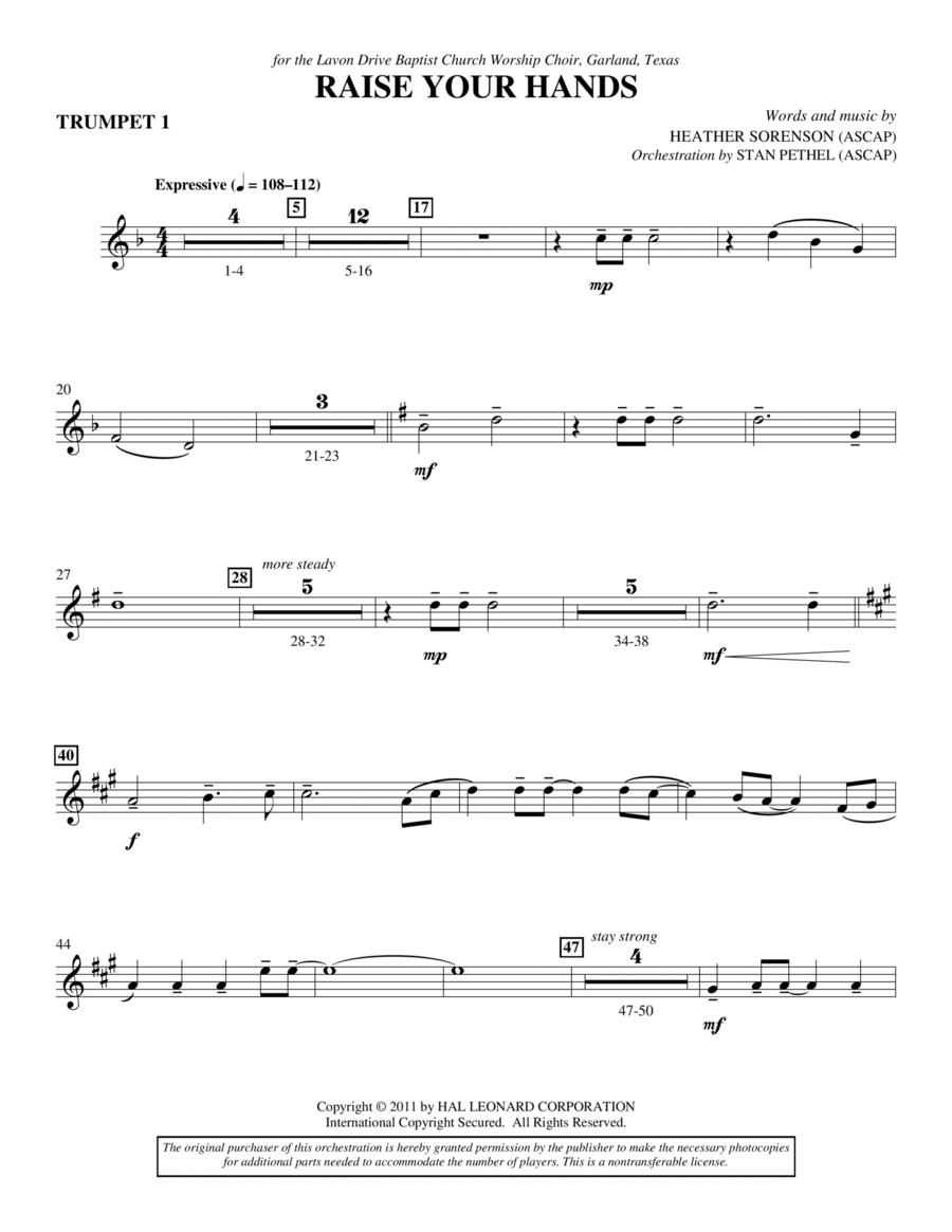 Raise Your Hands - Bb Trumpet 1