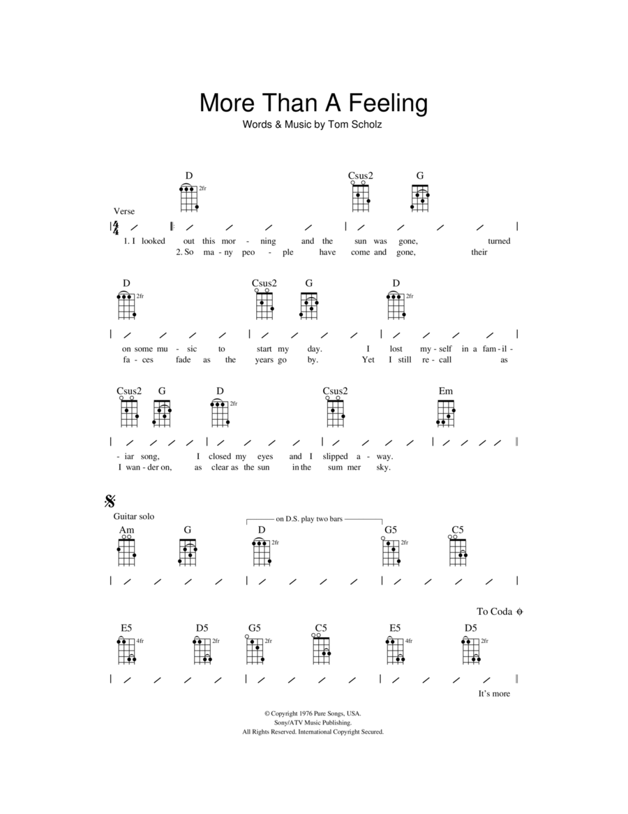 More Than A Feeling