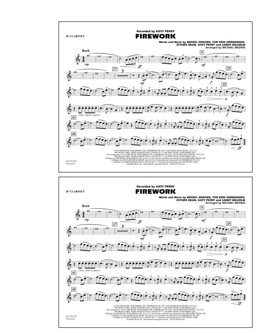 Firework - Bb Clarinet