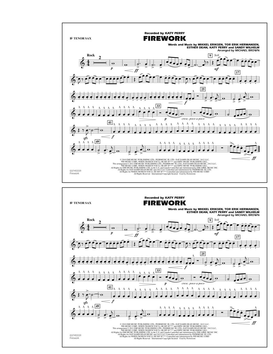 Firework - Bb Tenor Sax