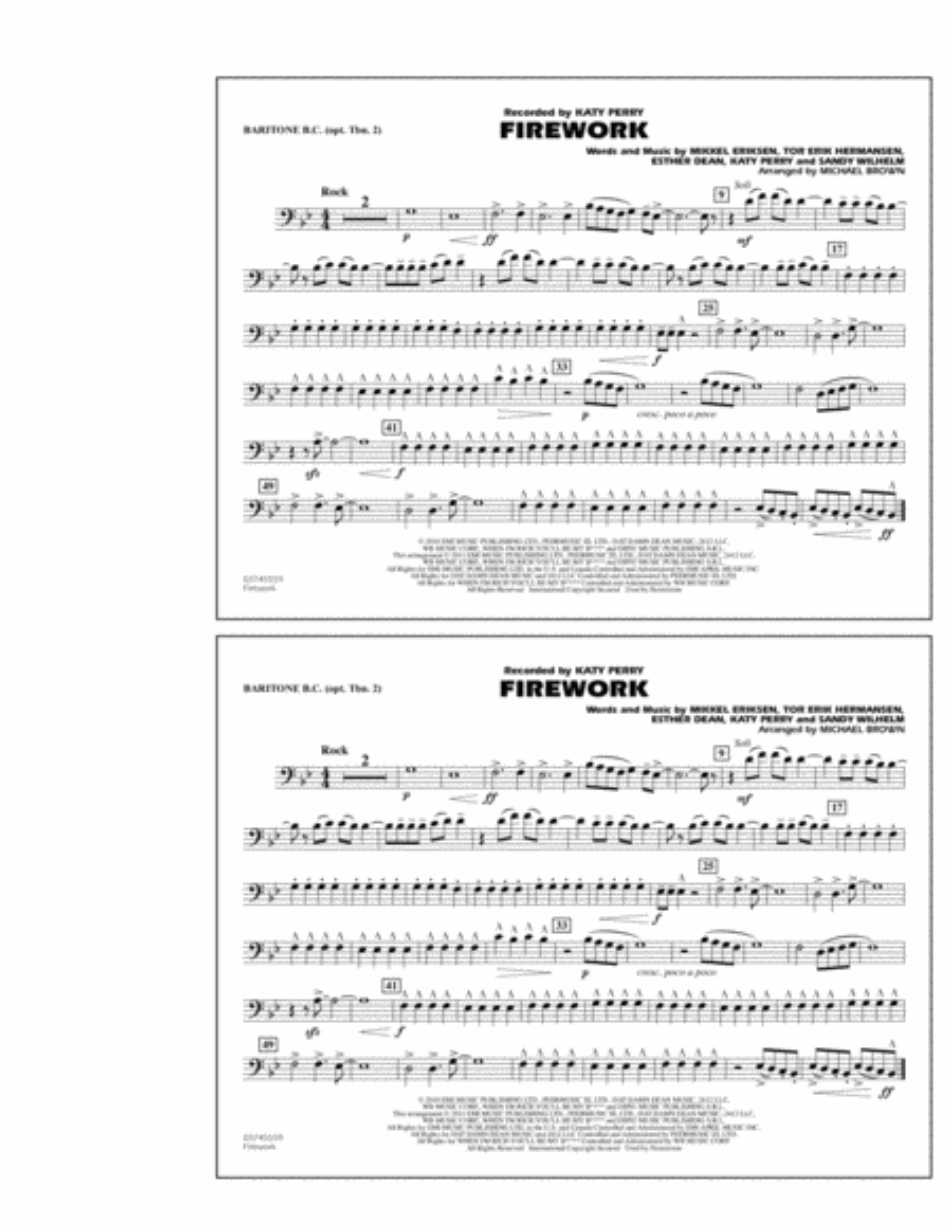 Firework - Baritone B.C. (Opt. Tbn. 2)