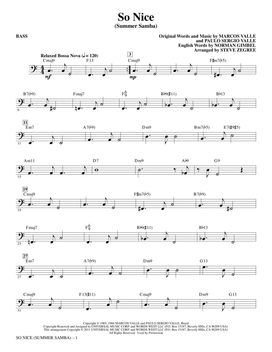 So Nice (Summer Samba) - Bass