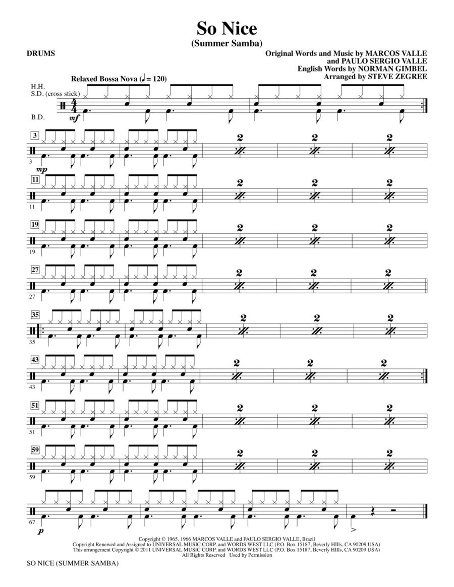 So Nice (Summer Samba) - Drums