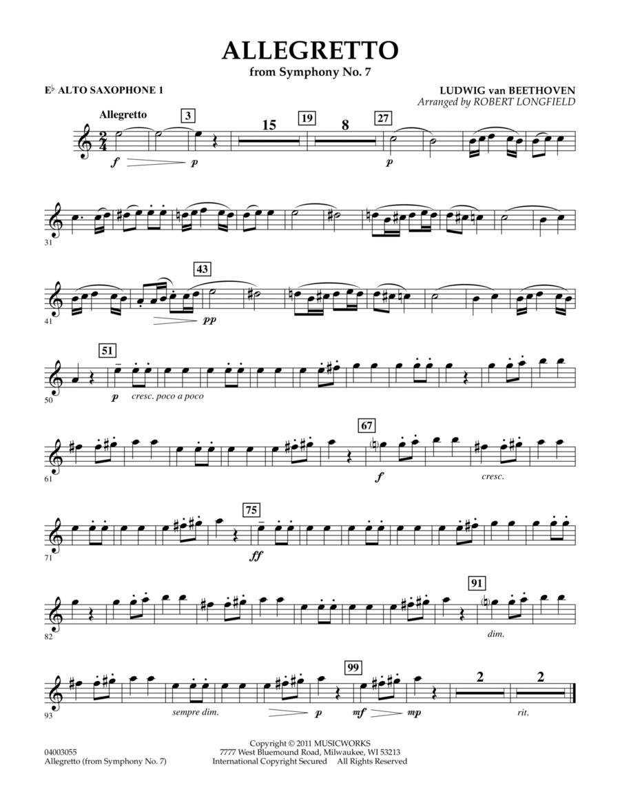 Allegretto (from Symphony No. 7) - Eb Alto Saxophone 1