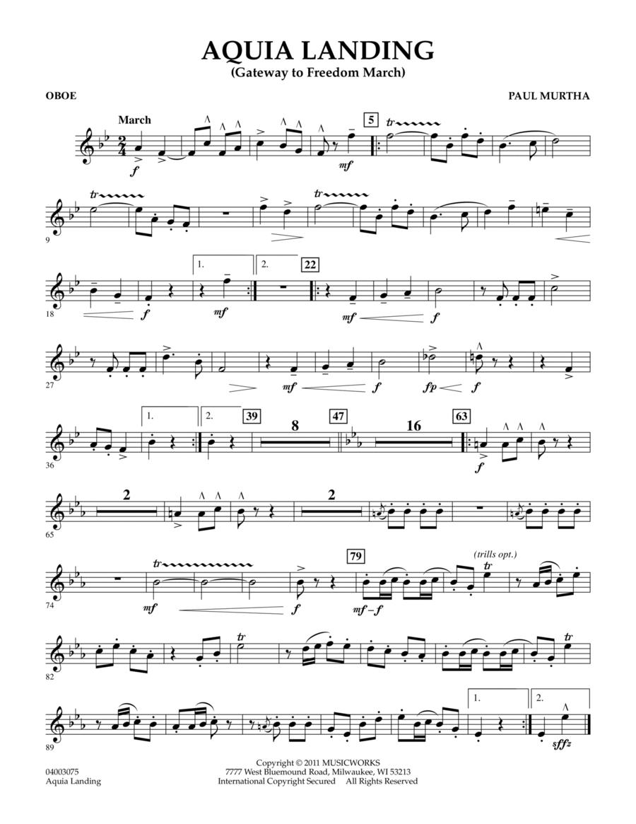 Aquia Landing (Gateway To Freedom March) - Oboe