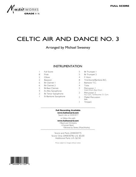 Celtic Air & Dance No. 3 - Full Score