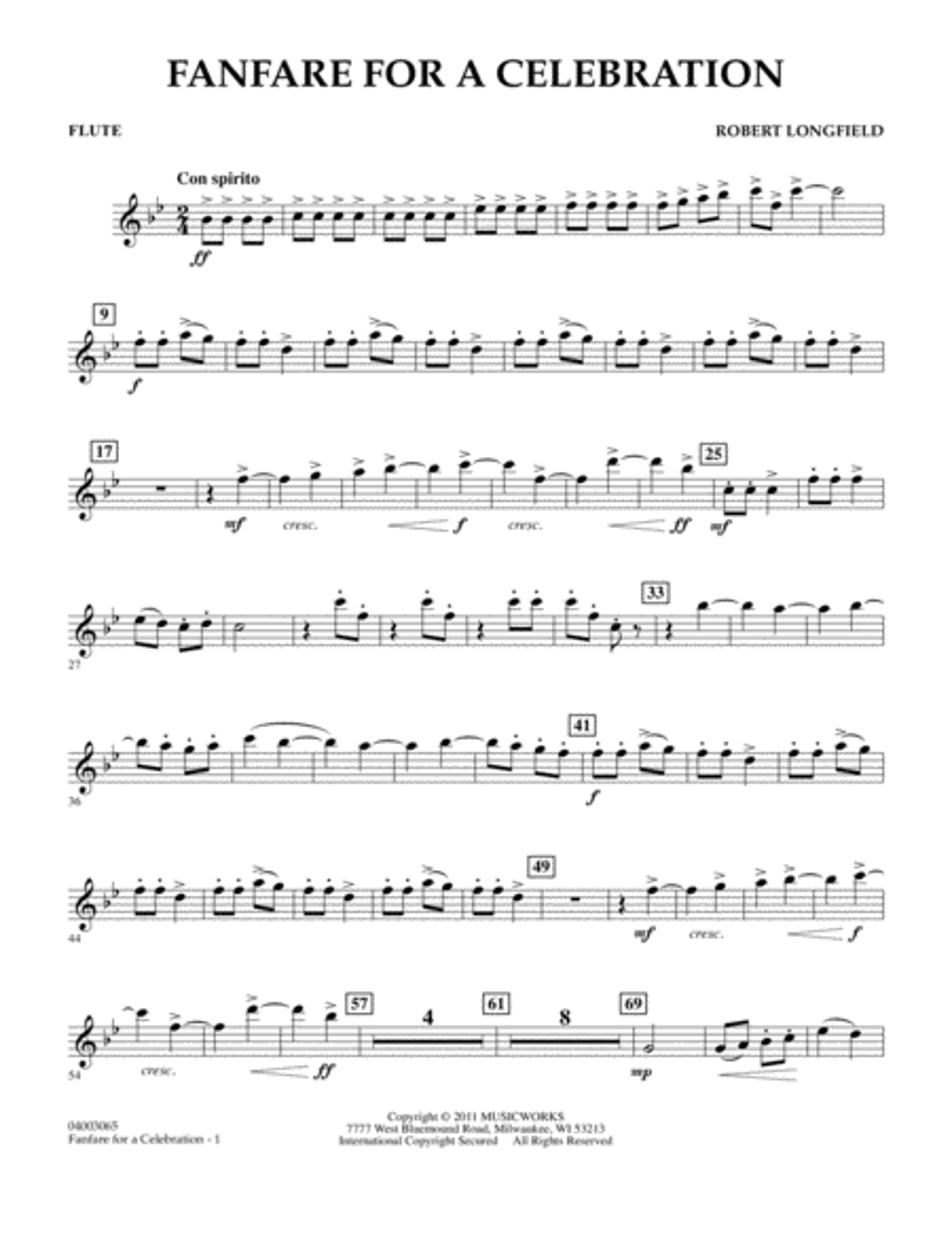 Fanfare For A Celebration - Flute