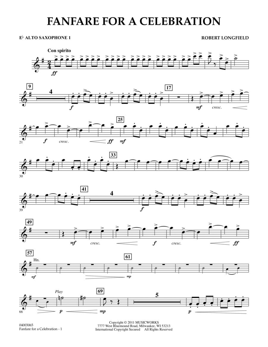 Fanfare For A Celebration - Eb Alto Saxophone 1