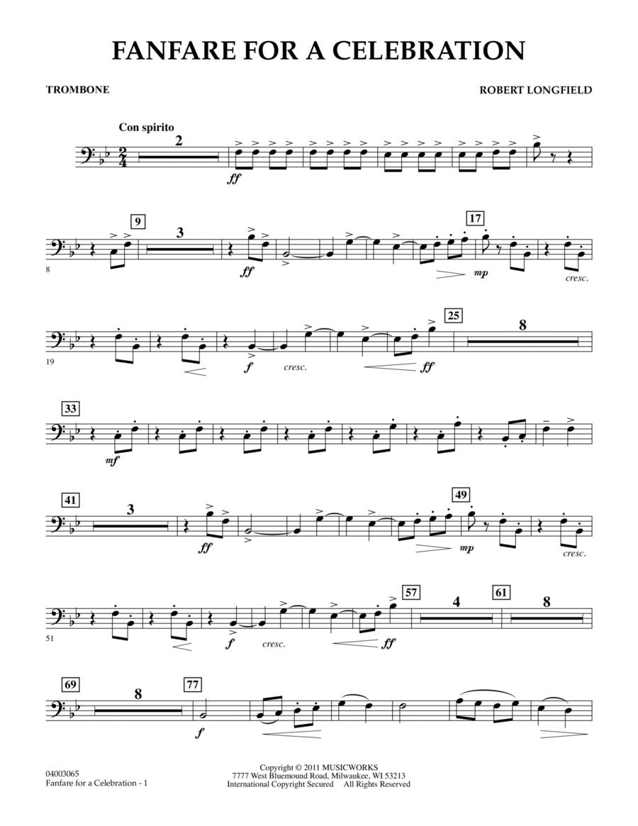 Fanfare For A Celebration - Trombone