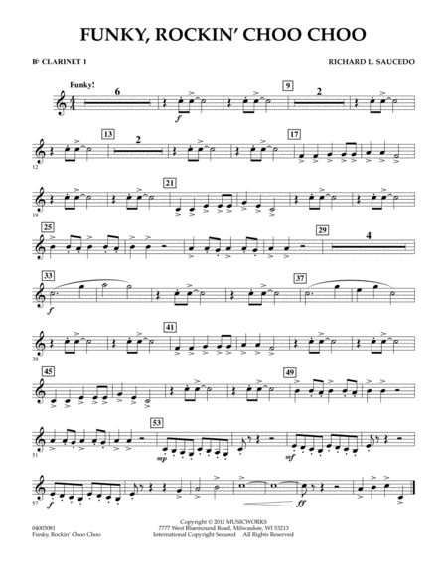 Funky, Rockin' Choo Choo - Bb Clarinet 1