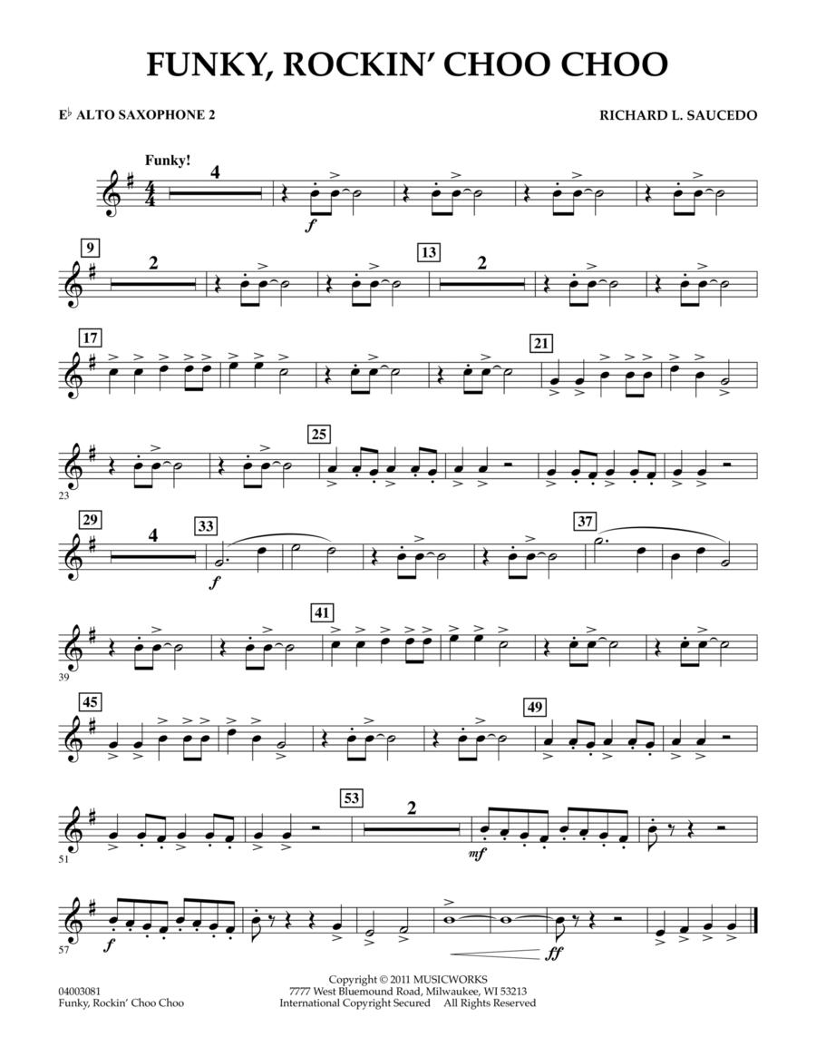 Funky, Rockin' Choo Choo - Eb Alto Saxophone 2