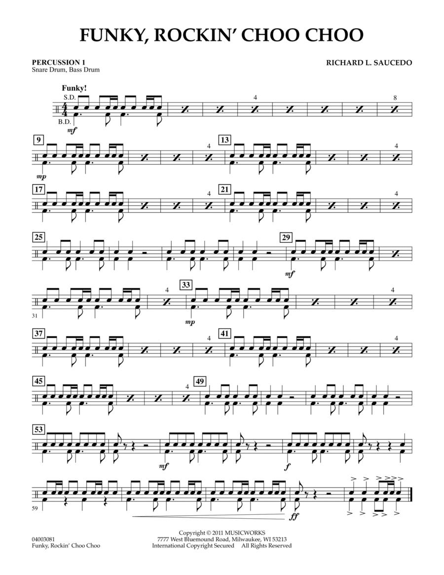 Funky, Rockin' Choo Choo - Percussion 1