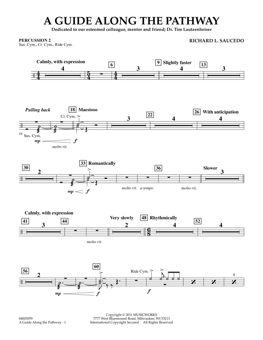 A Guide Along The Pathway - Percussion 2