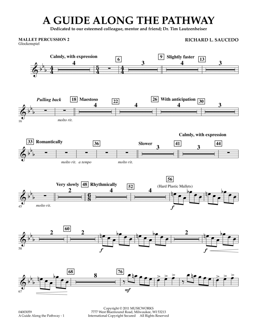 A Guide Along The Pathway - Mallet Percussion 2