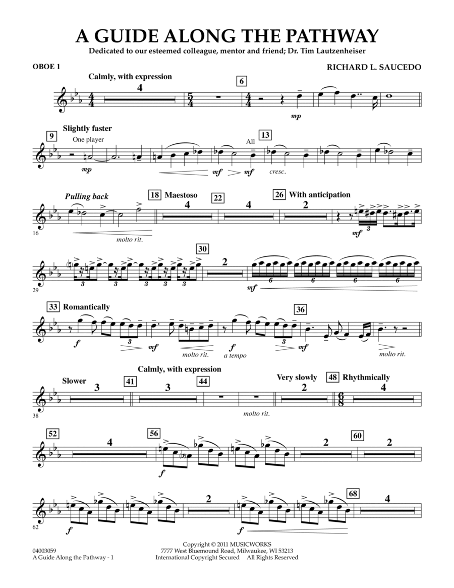 A Guide Along The Pathway - Oboe 1