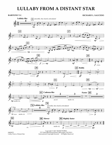 Lullaby From A Distant Star - Baritone T.C.