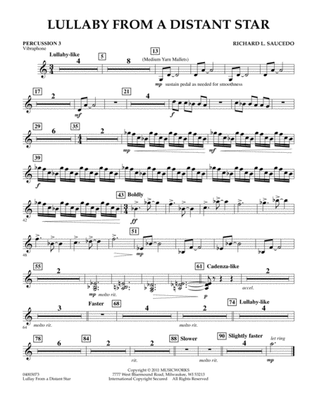 Lullaby From A Distant Star - Percussion 3