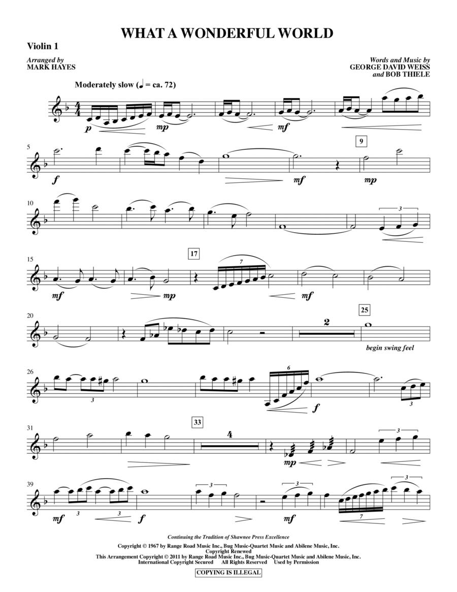 What A Wonderful World - Violin 1