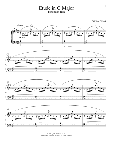 Etude In G Major (Toboggan Ride)