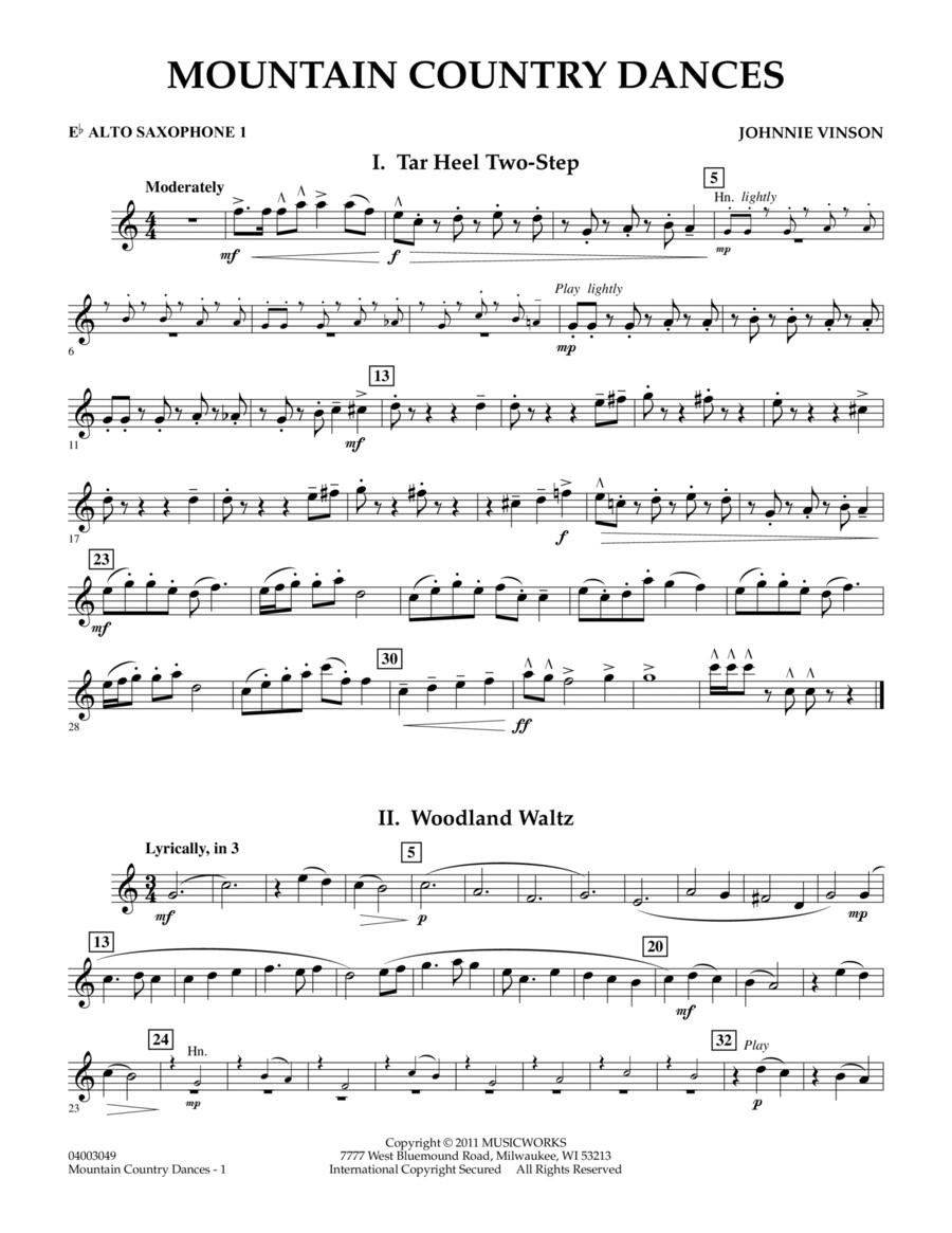 Mountain Country Dances - Eb Alto Saxophone 1
