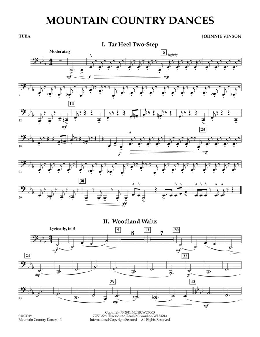 Mountain Country Dances - Tuba