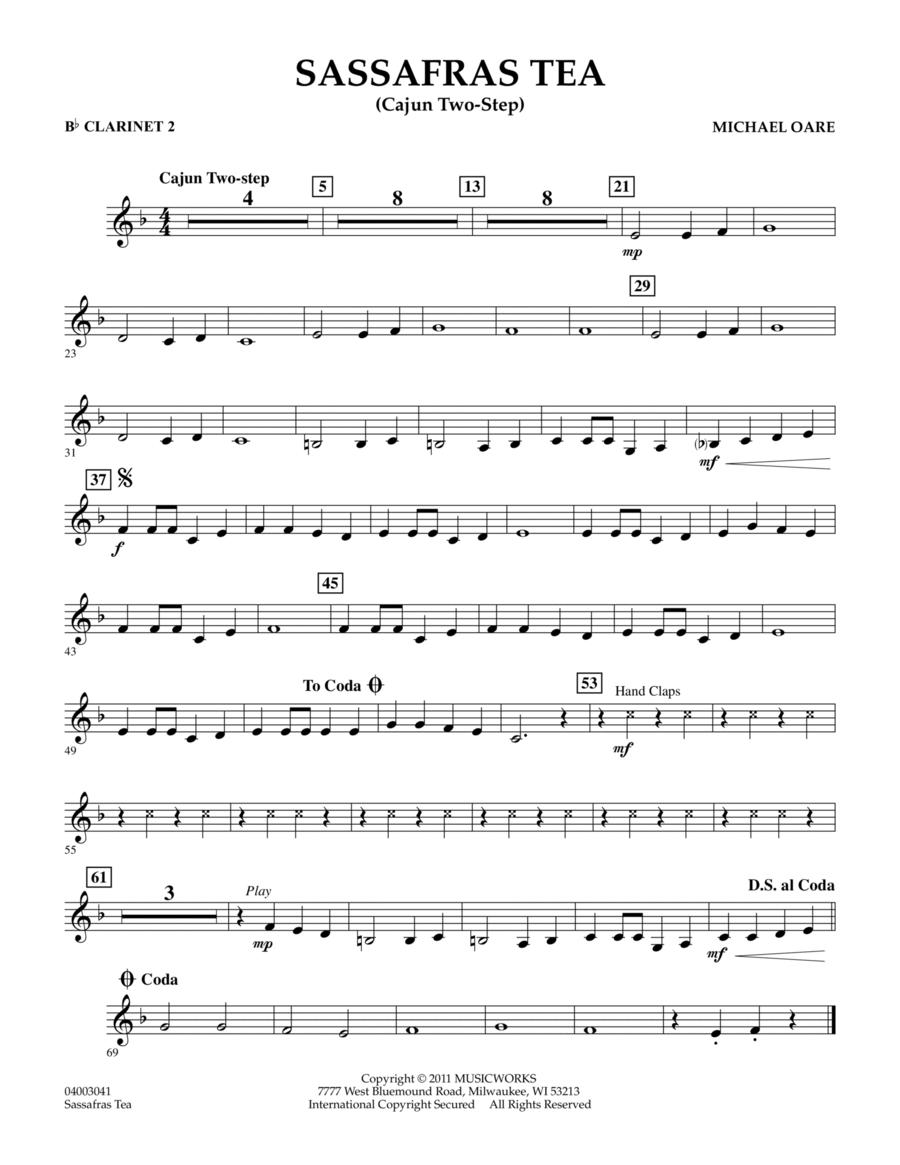 Sassafras Tea (Cajun Two-Step) - Bb Clarinet 2
