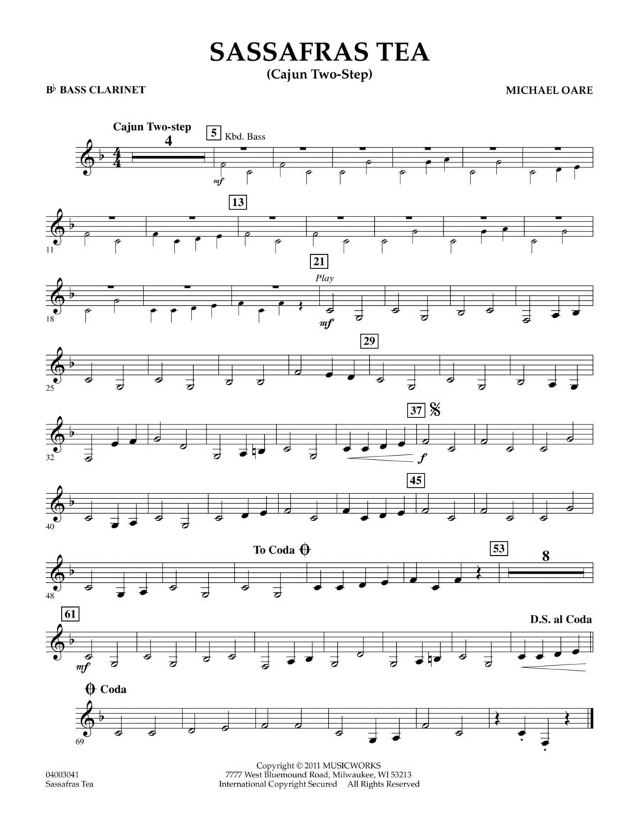 Sassafras Tea (Cajun Two-Step) - Bb Bass Clarinet