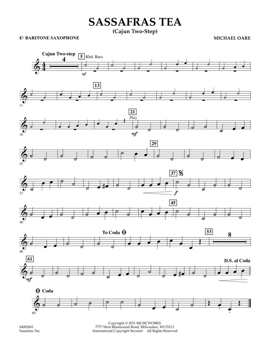 Sassafras Tea (Cajun Two-Step) - Eb Baritone Saxophone