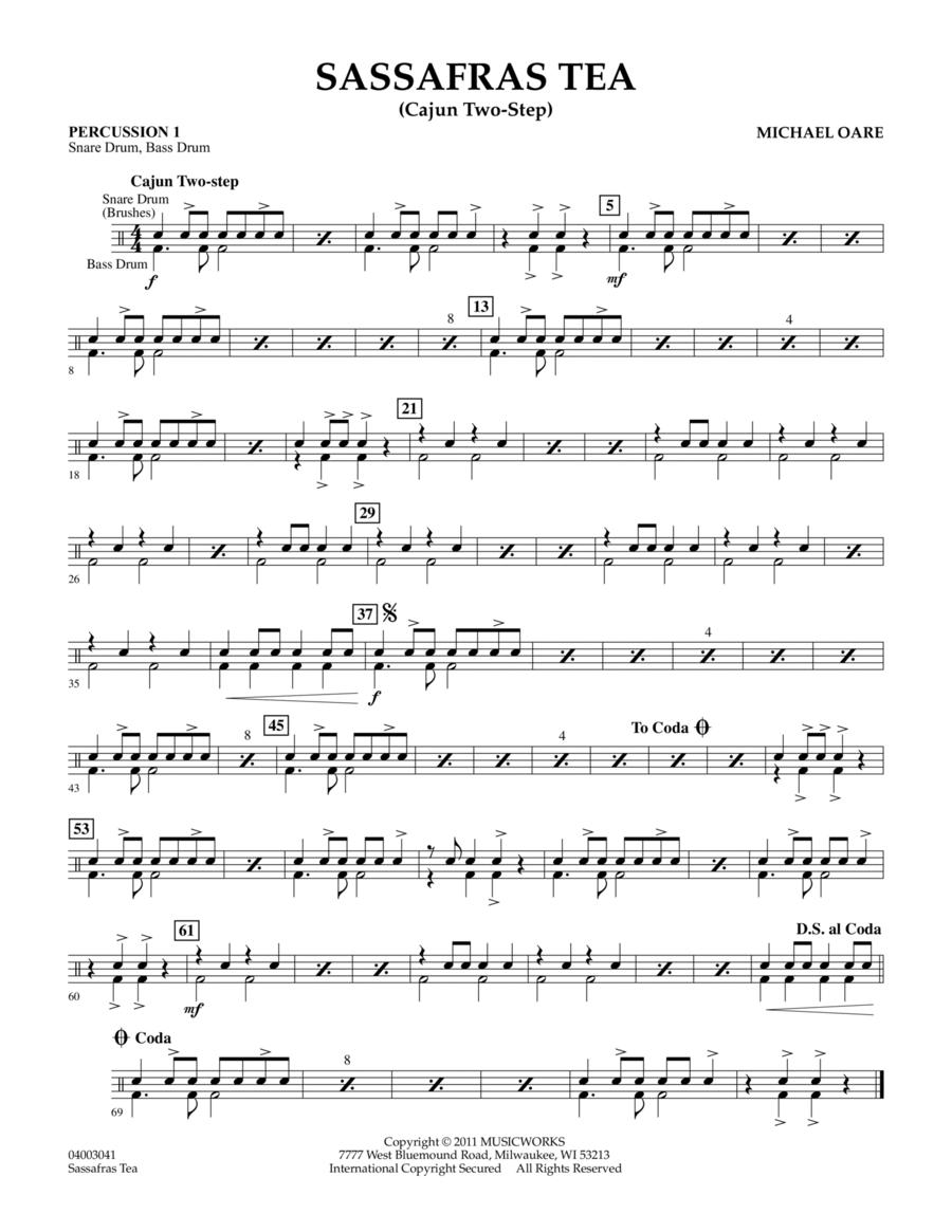 Sassafras Tea (Cajun Two-Step) - Percussion 1
