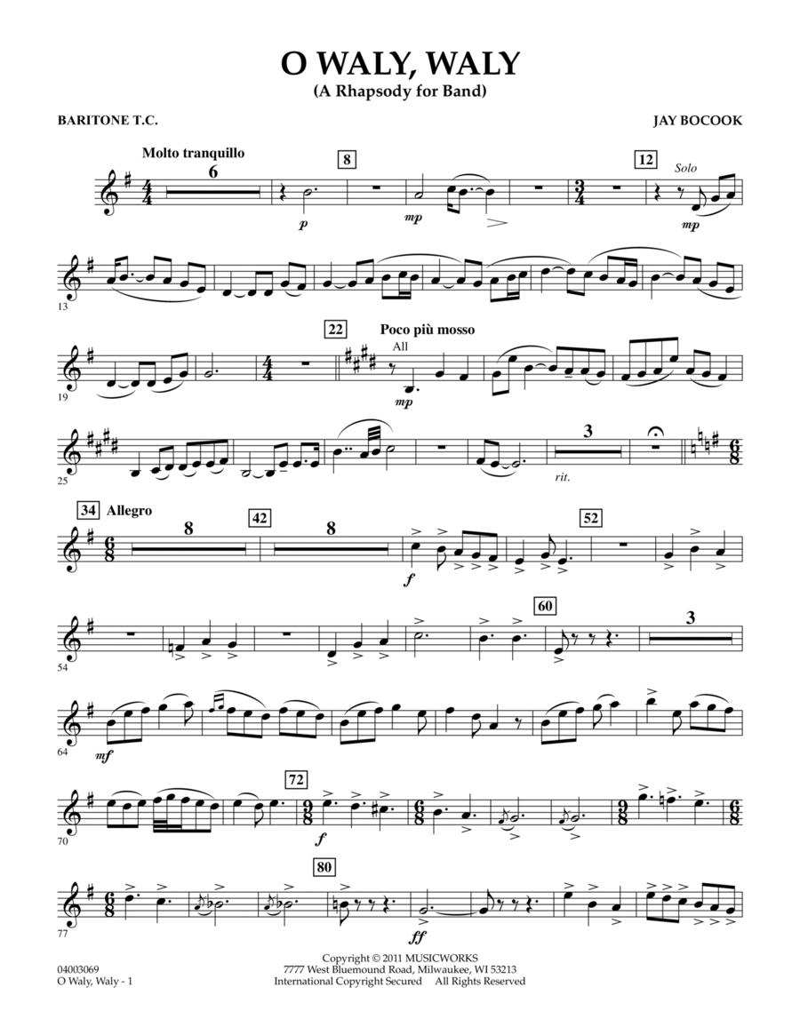 O Waly Waly (A Rhapsody For Band) - Baritone T.C.