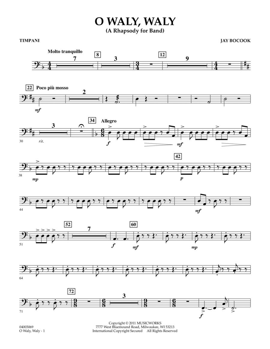 O Waly Waly (A Rhapsody For Band) - Timpani