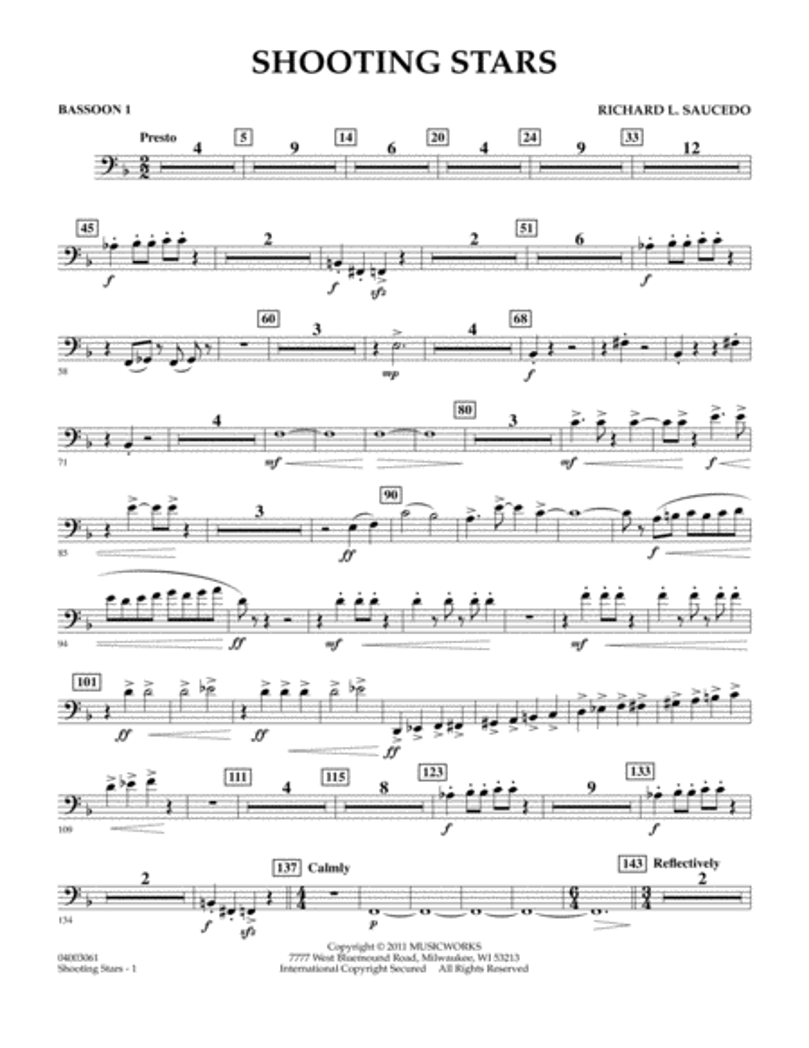 Shooting Stars - Bassoon 1