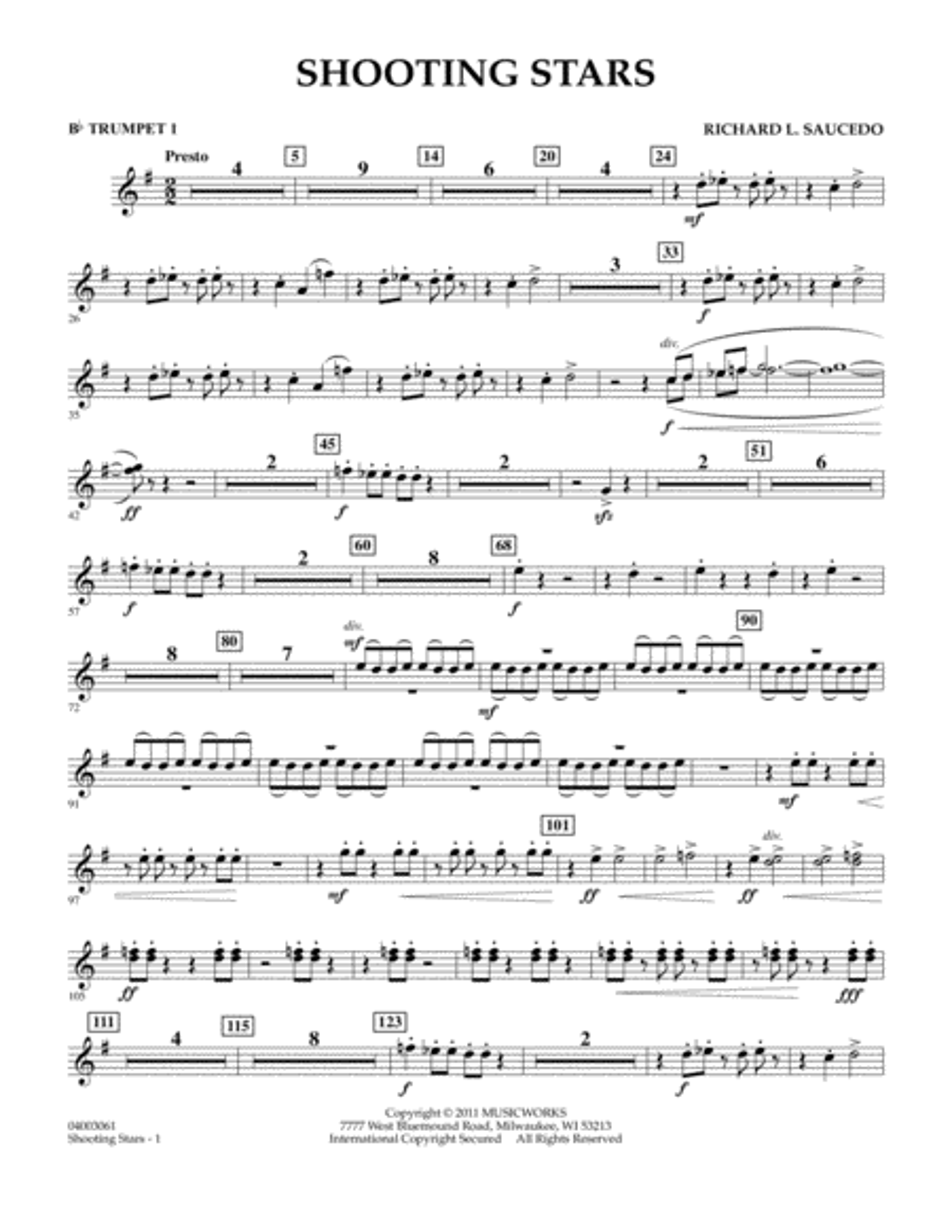 Shooting Stars - Bb Trumpet 1