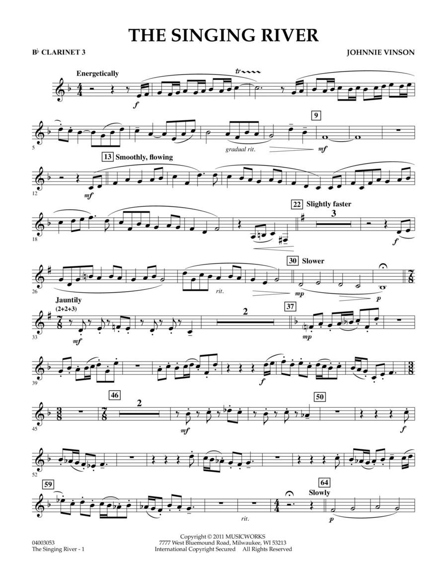 The Singing River - Bb Clarinet 3