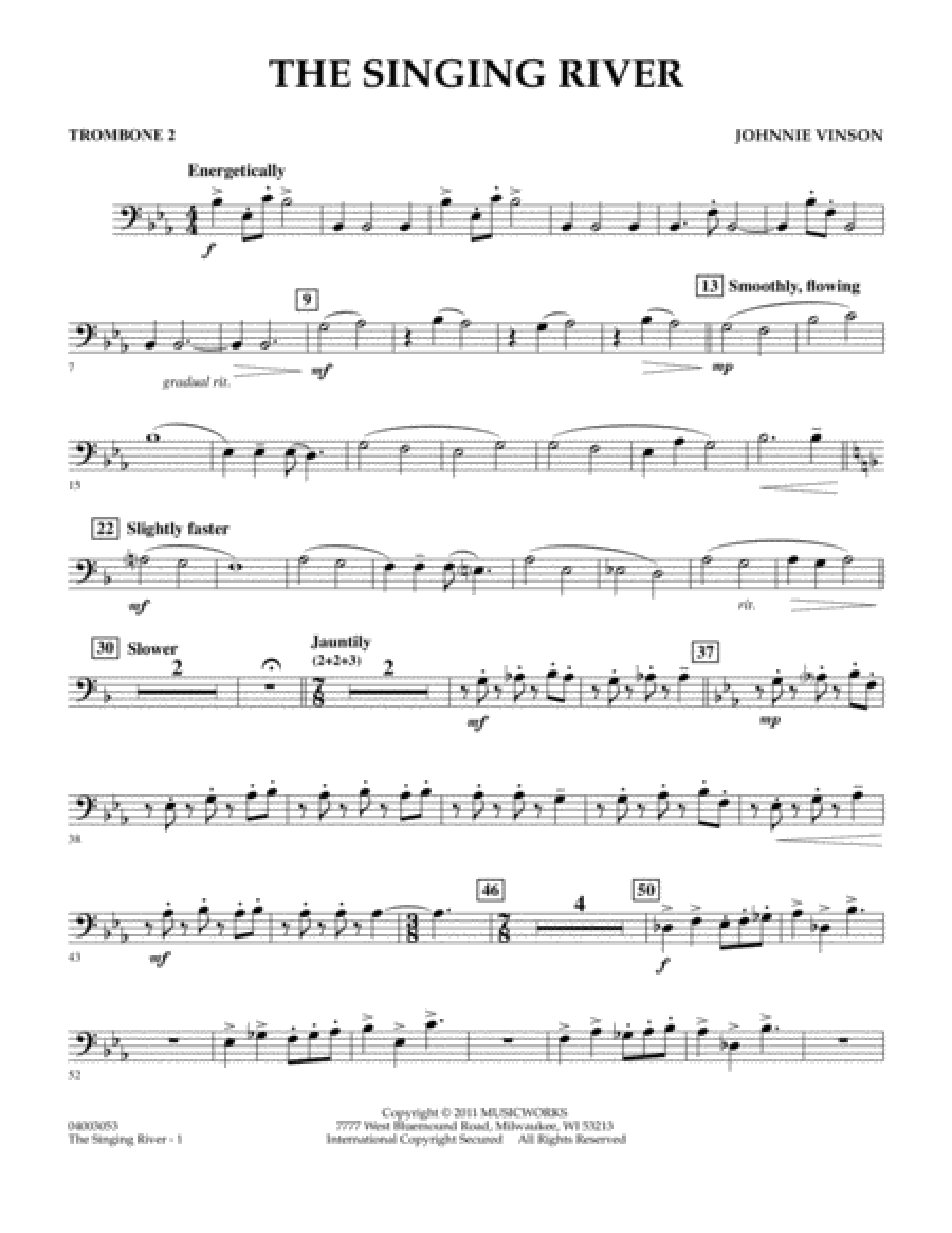 The Singing River - Trombone 2