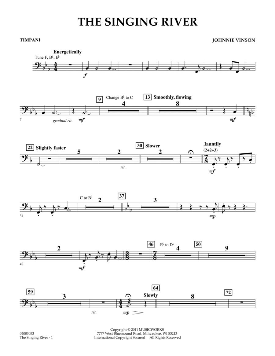 The Singing River - Timpani