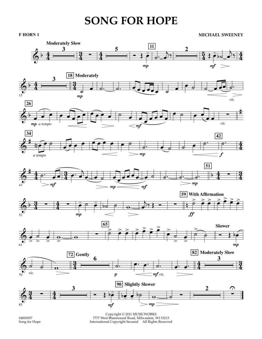 Song For Hope - F Horn 1