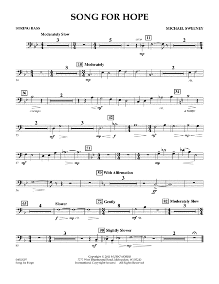 Song For Hope - String Bass
