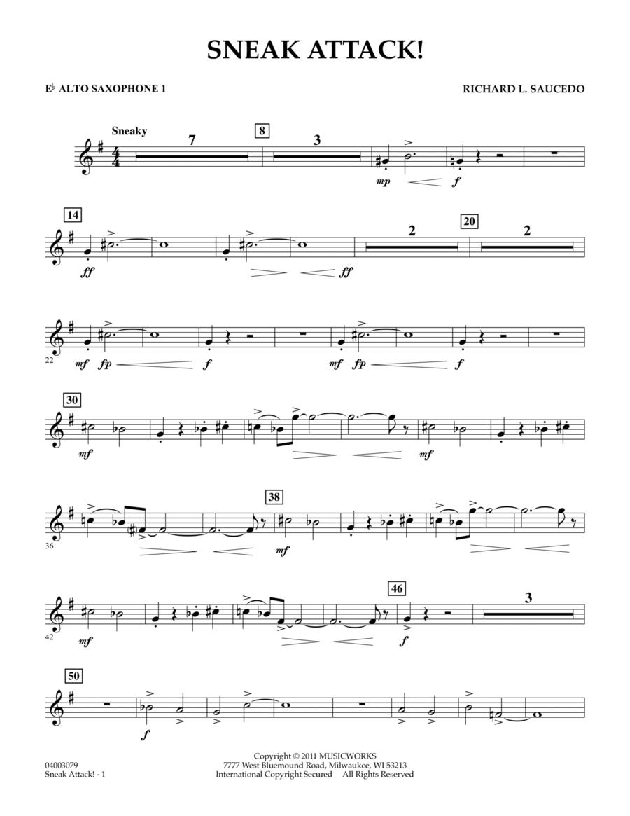 Sneak Attack! - Eb Alto Saxophone 1