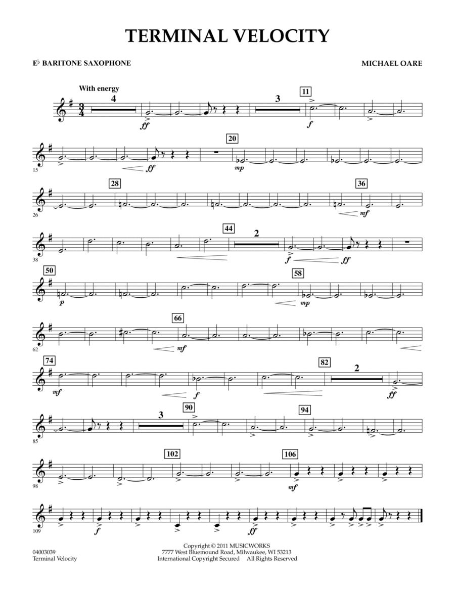 Terminal Velocity - Eb Baritone Saxophone