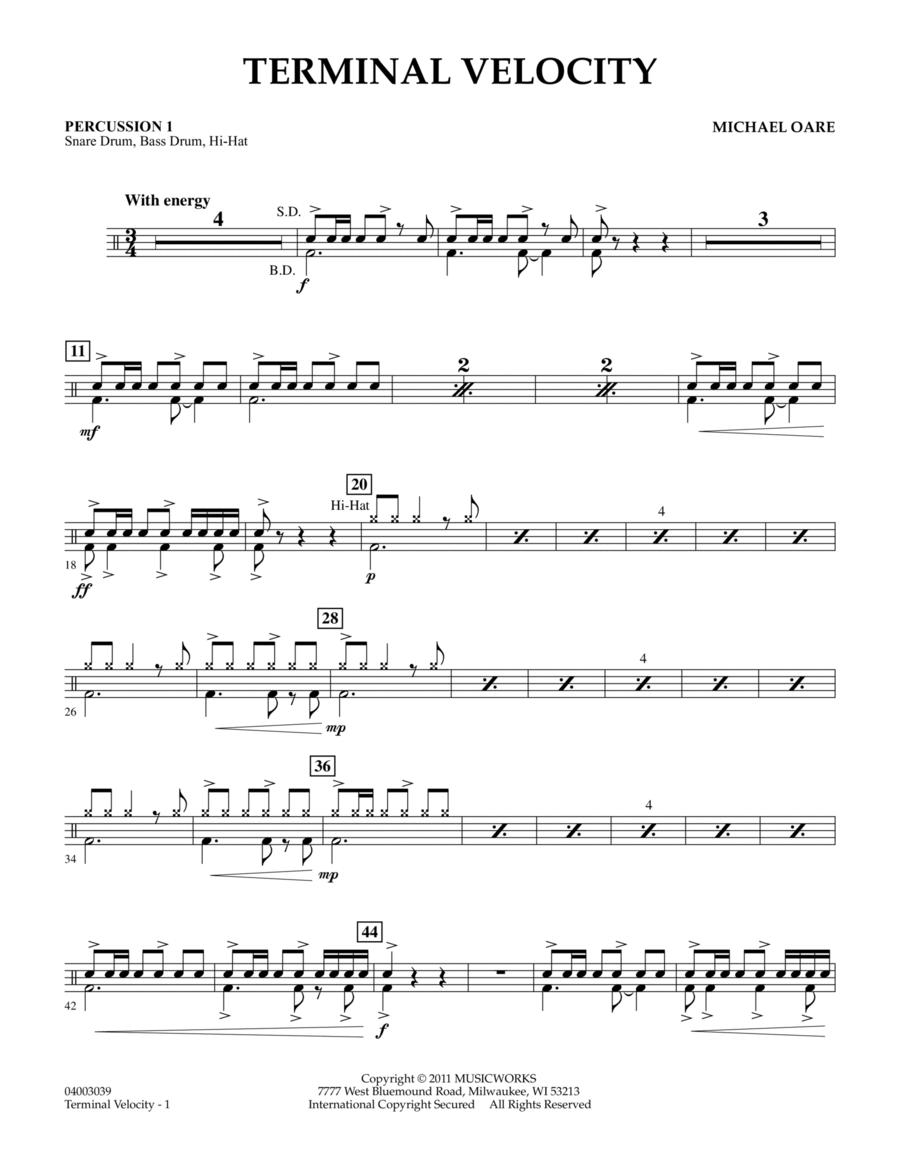 Terminal Velocity - Percussion 1