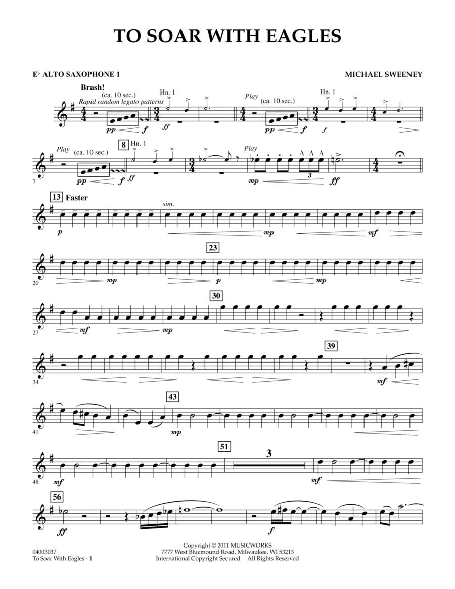 To Soar With Eagles - Eb Alto Saxophone 1