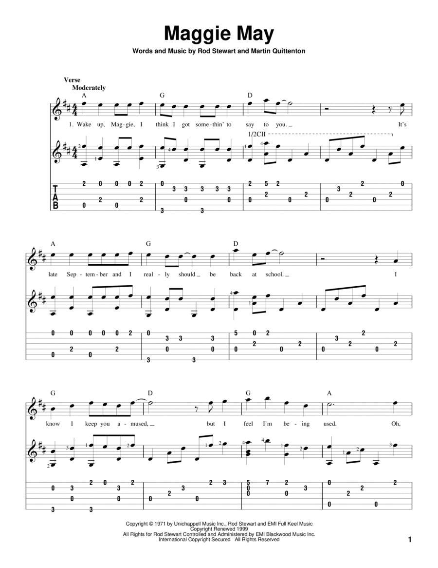 maggie may sheet music pdf