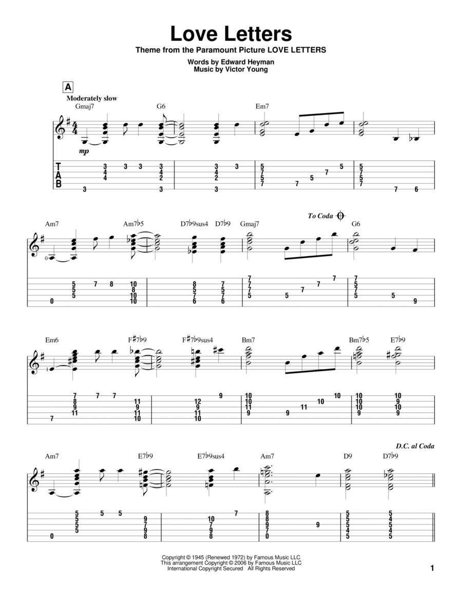 Download Love Letters Sheet Music By Edward Heyman