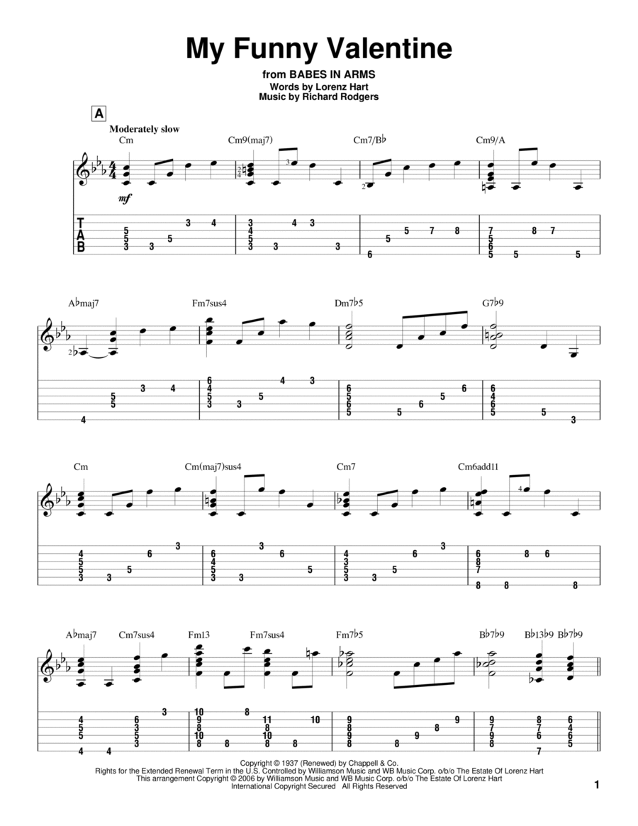 my funny valentine sheet music pdf